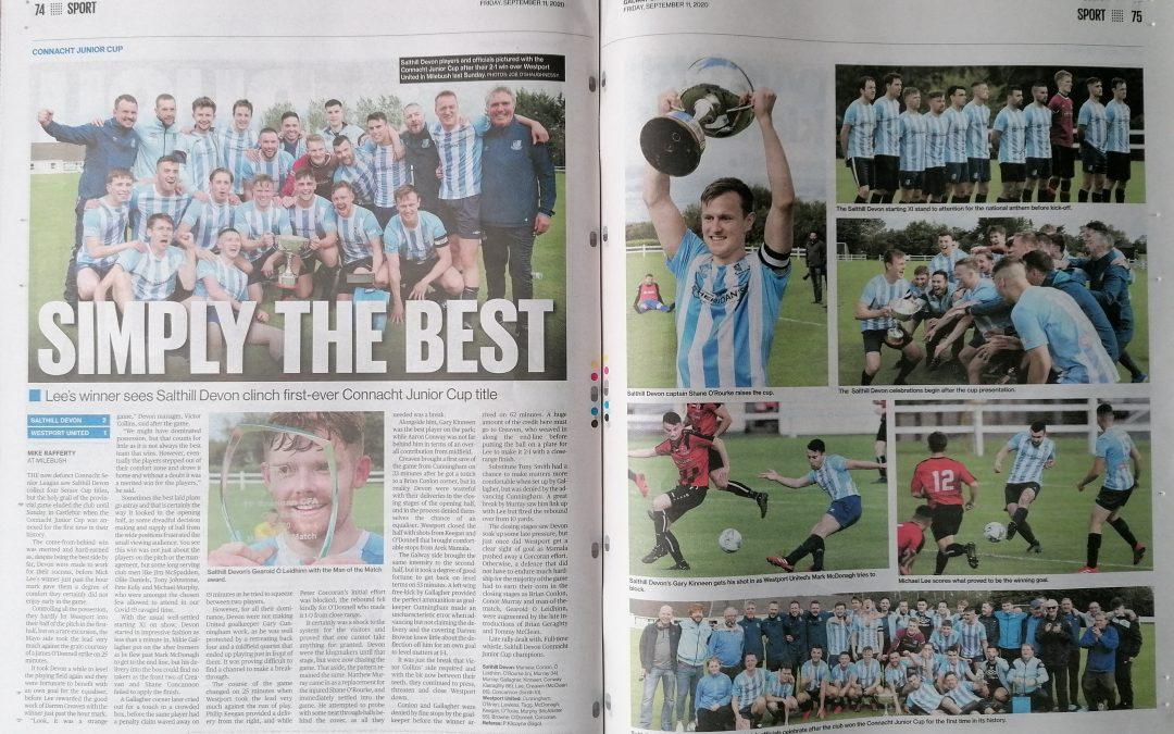 Connacht Cup Winners – Thank You Connacht Tribune