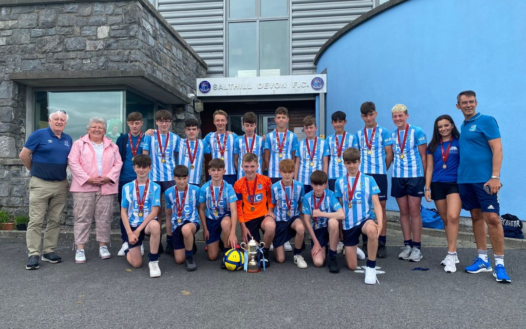 U14A's Presented with Winners Medals