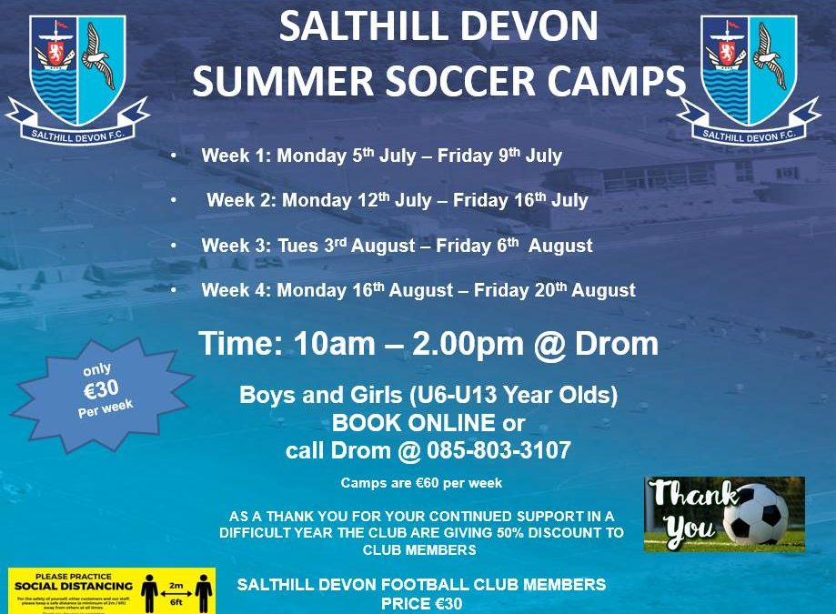 Summer Camps – 50% reduction for Members